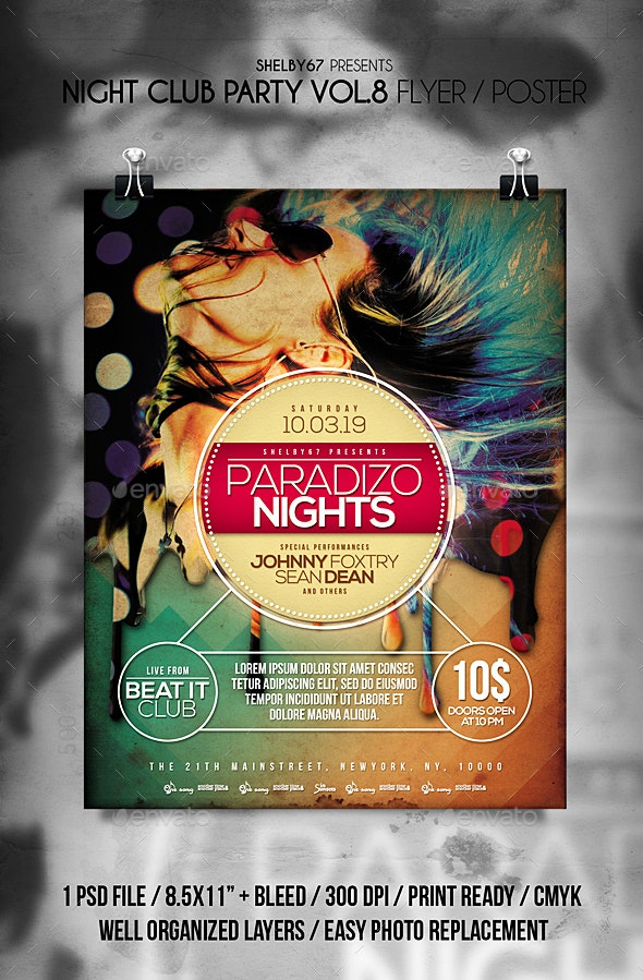 Night Club Party Flyer Templates Vol 8 - Clubs & Parties Events
