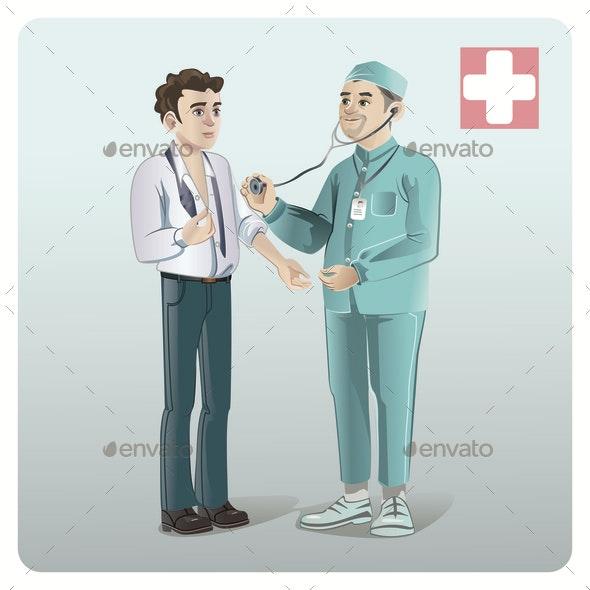 Cartoon Medical Care Template - Health/Medicine Conceptual