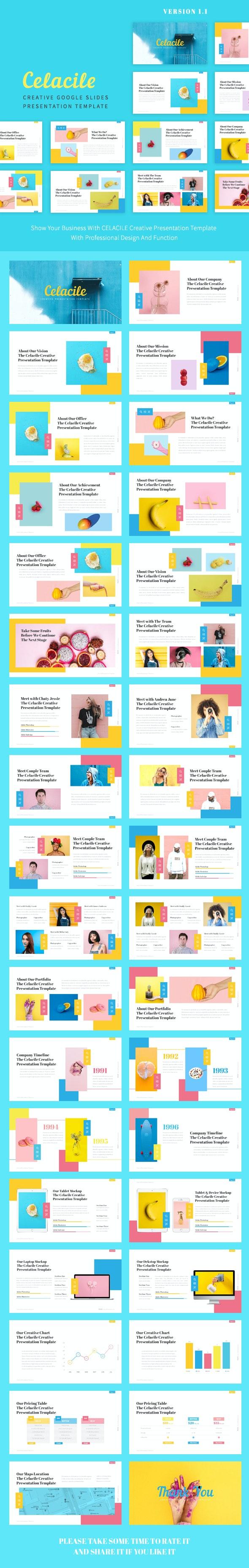 Celacile - Candy Creative Google Slides Template - Google Slides Presentation Templates
