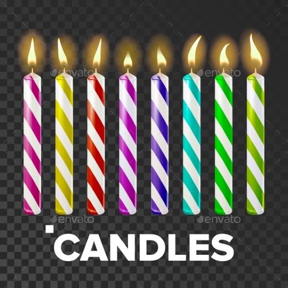 Candles Set Vector - Birthdays Seasons/Holidays