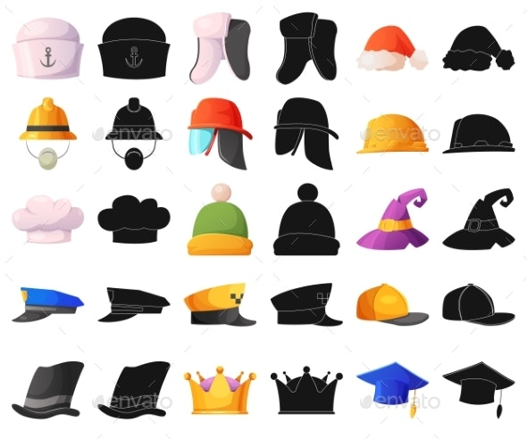Isolated Object of Headgear and Hats - Miscellaneous Vectors