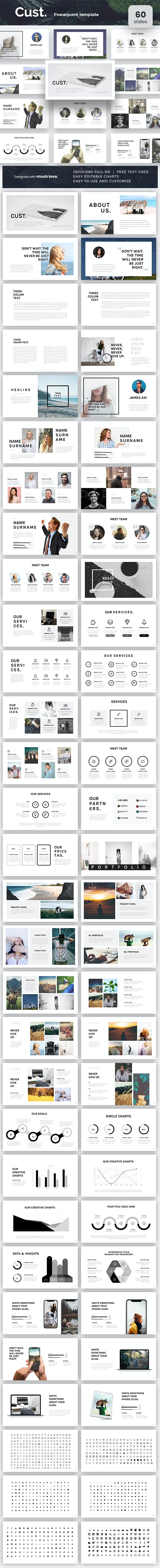 Cust Powerpoint Presentation Template - PowerPoint Templates Presentation Templates