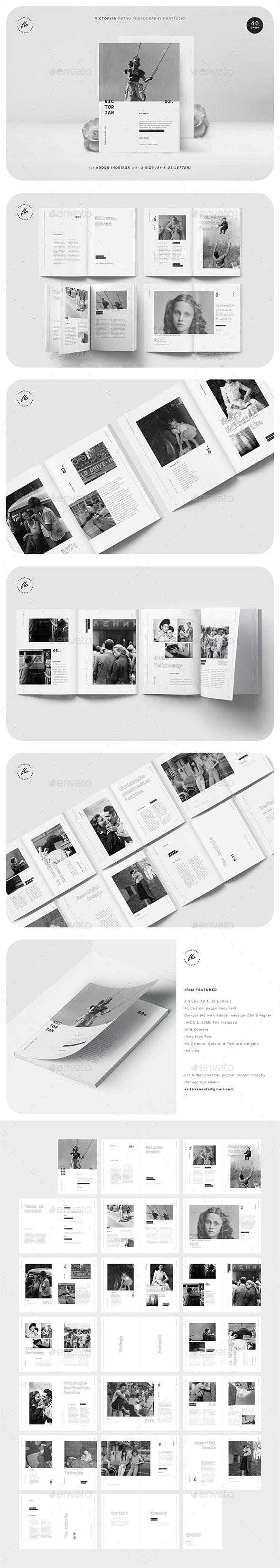Victoria Retro Photography Portfolio - Magazines Print Templates