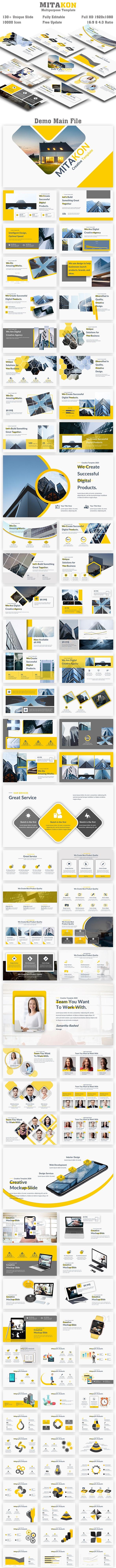 Mitakon Multipurose PowerPoint Template - Creative PowerPoint Templates