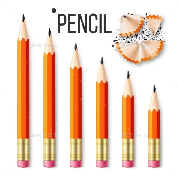 Pencil Stationery Set Vector - Man-made Objects Objects