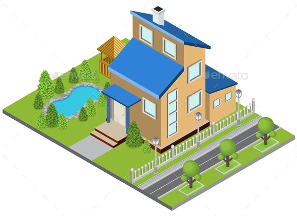 Suburbia Building Concept - Buildings Objects