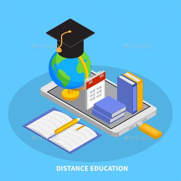 Online Education Composition - Miscellaneous Vectors