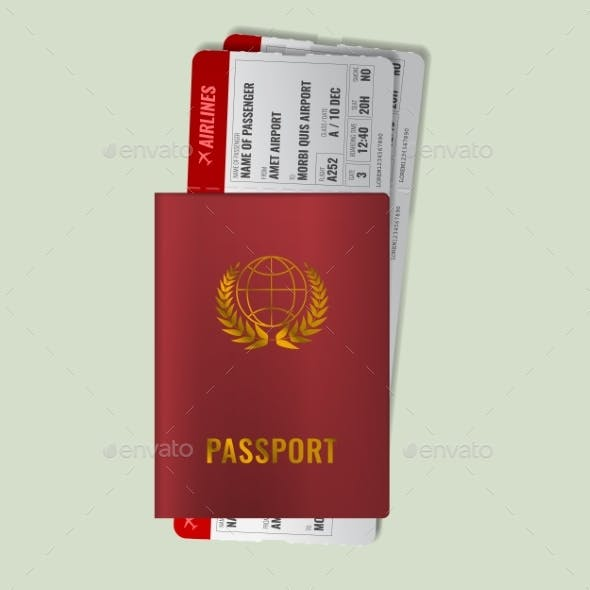 International Passport with Boarding Passes