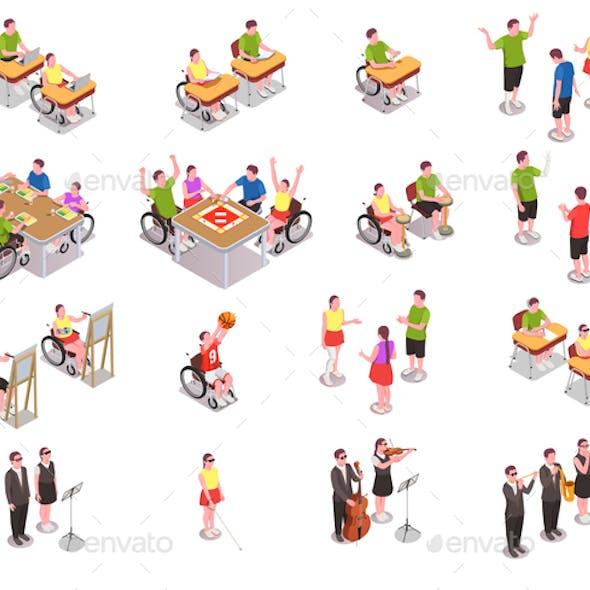 Inclusive Education Icons Set