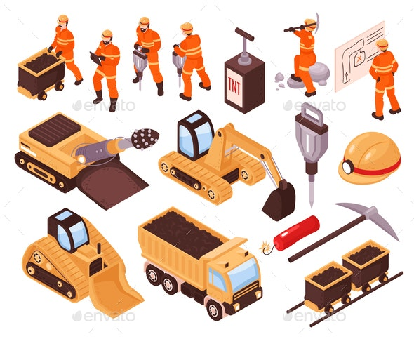 Isometric Mining Set - Industries Business