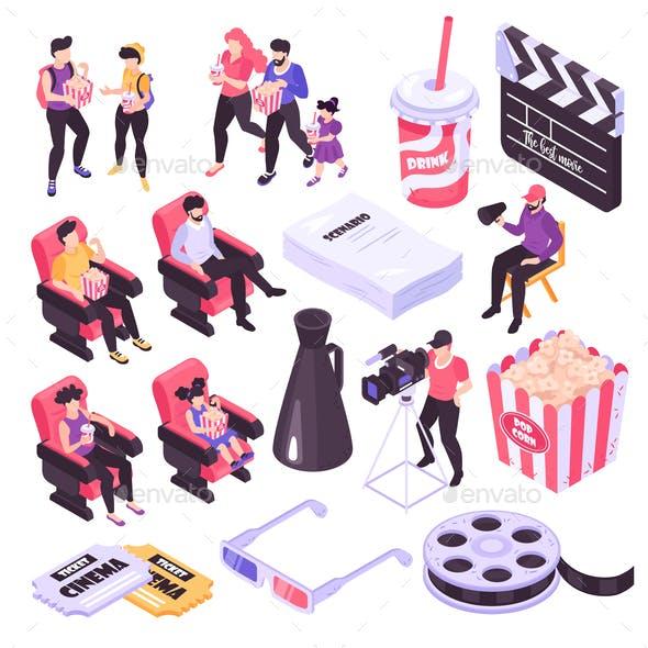 Isometric Cinema Set