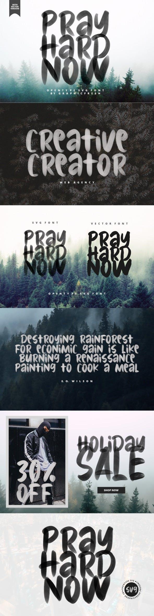 Pray Hard Now – 30% OFF – SVG Font