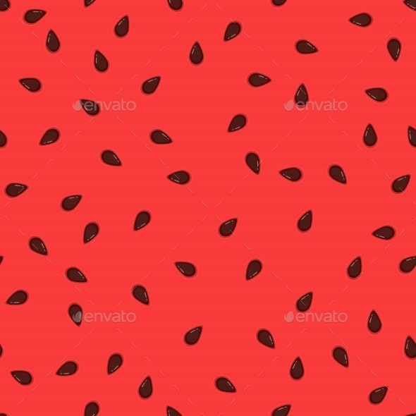 Watermelon Seeds Background - Backgrounds Decorative