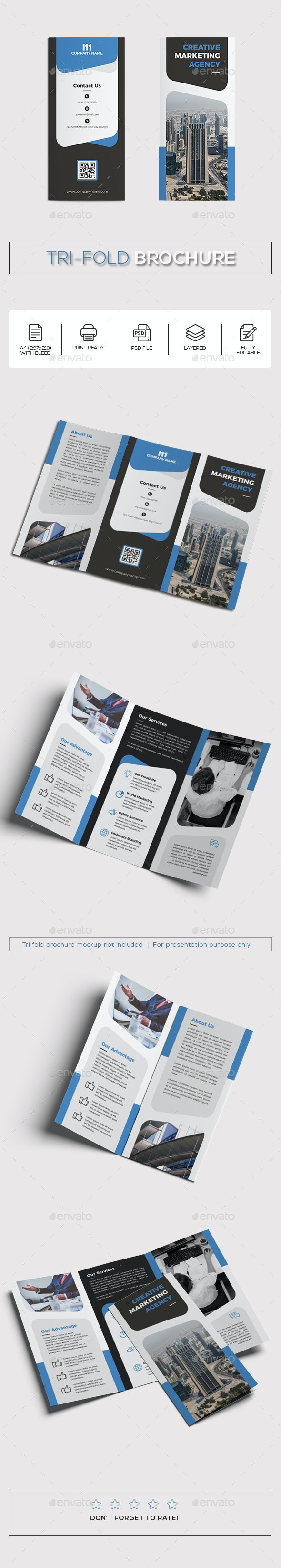 Tri-fold Creative Brochure - Corporate Brochures