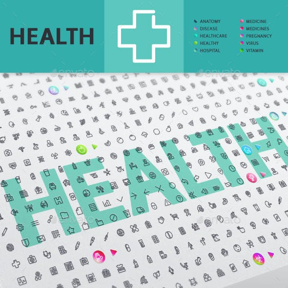 Health Thematic Collection of Line Icons