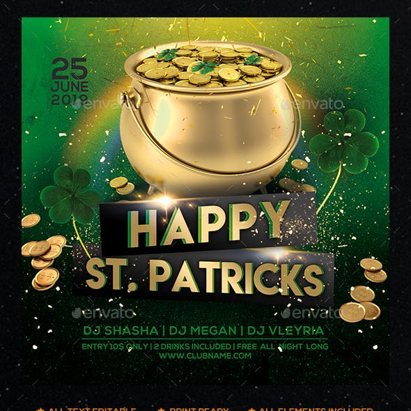 St. Patricks Day Party Flyer