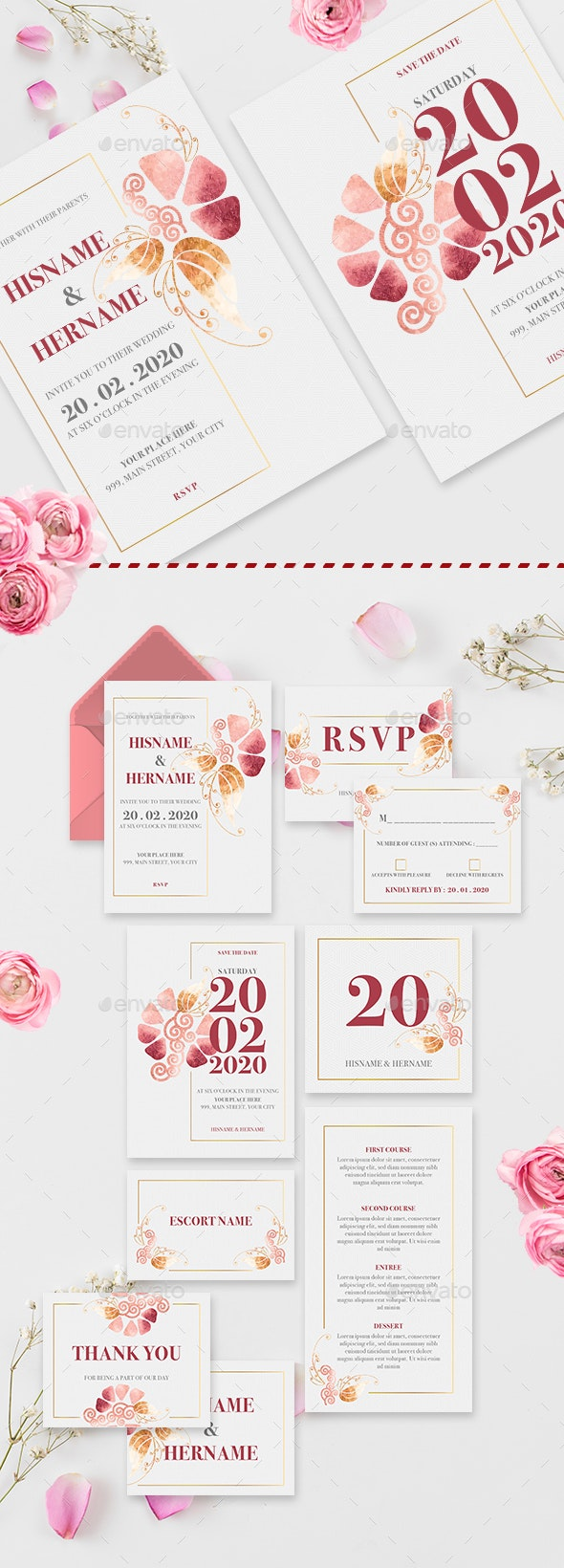 Sweet Blossoms Wedding Invitation Suite - Weddings Cards & Invites