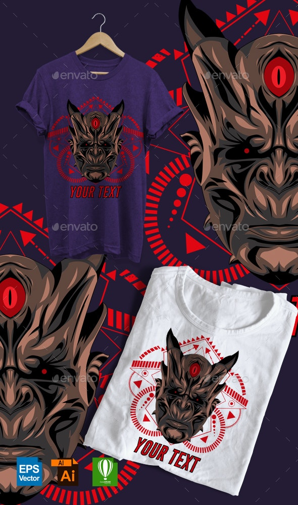 Scary Oni - Sports & Teams T-Shirts