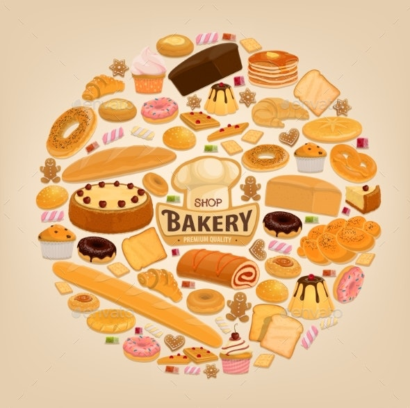Bakery Shop Pastry Desserts - Food Objects