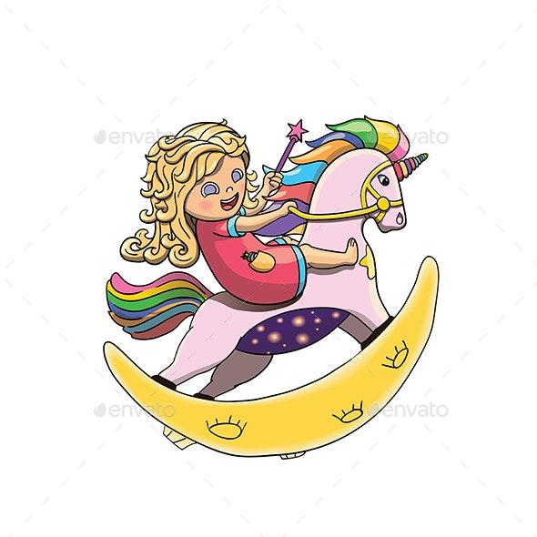 Rainbow Unicorn - People Characters
