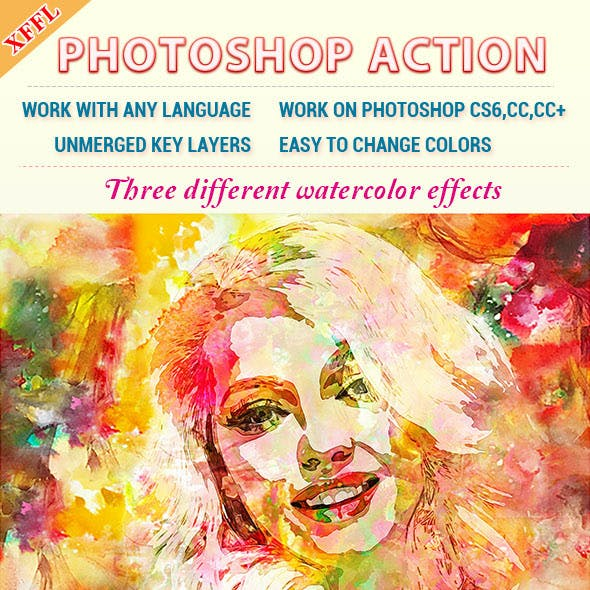 Watercolor Art V4 Photoshop Action