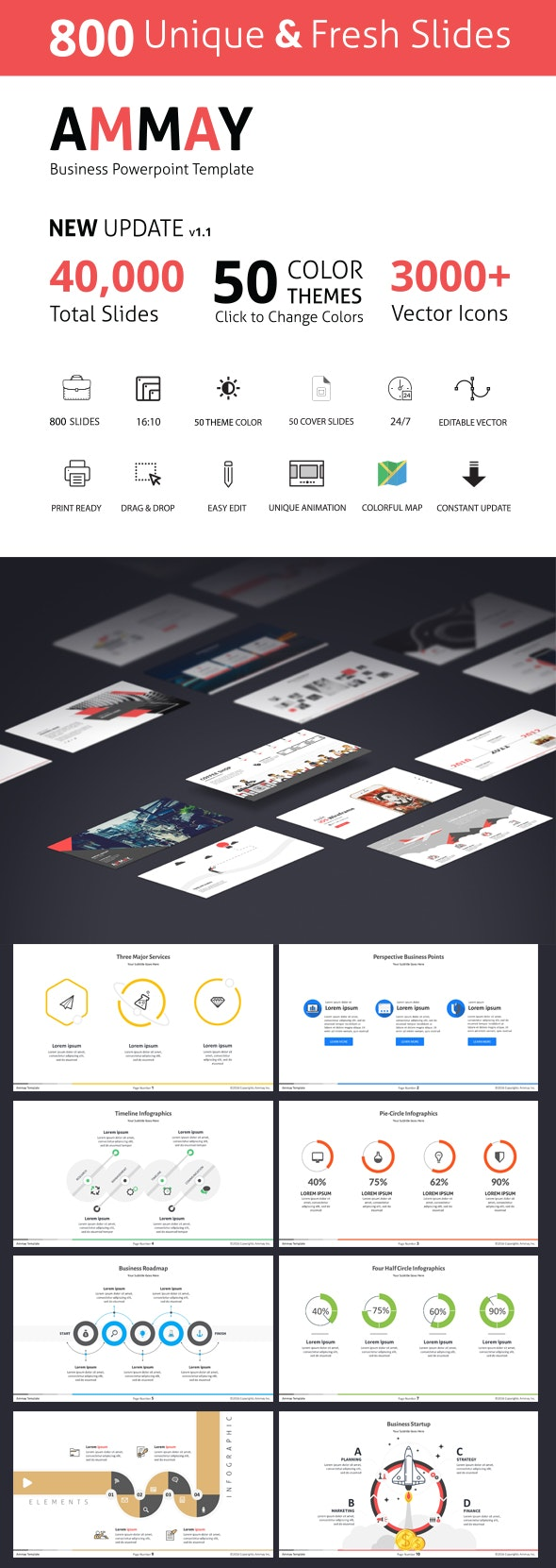 Ammay Business Powerpoint Template Newly Updated 2019 - Business PowerPoint Templates
