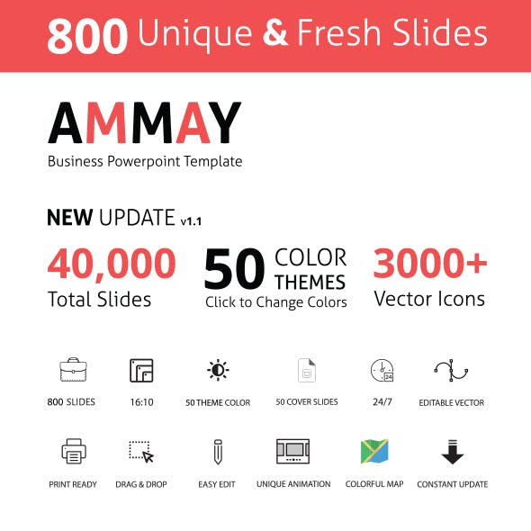 Ammay Business Powerpoint Template Newly Updated 2019