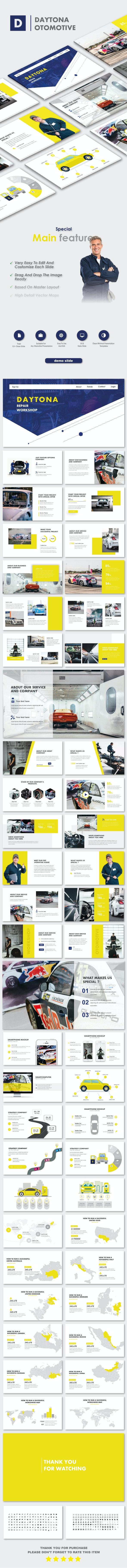 Daytona Otomotive Google Slide Templates - Miscellaneous PowerPoint Templates