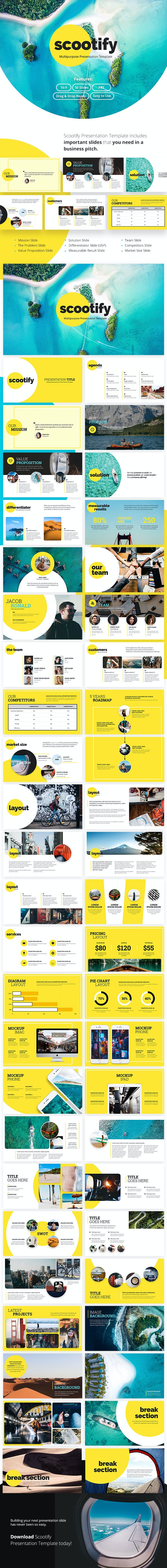 Scootify Powerpoint Business Presentation Template - PowerPoint Templates Presentation Templates