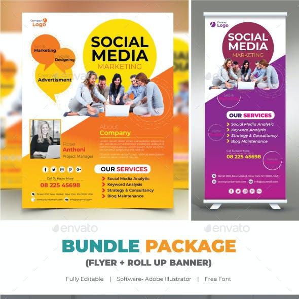 Social Media Bundle (Flyer+Roll Up)
