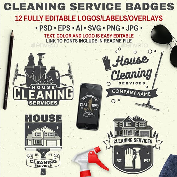 Cleaning Company Services Badge
