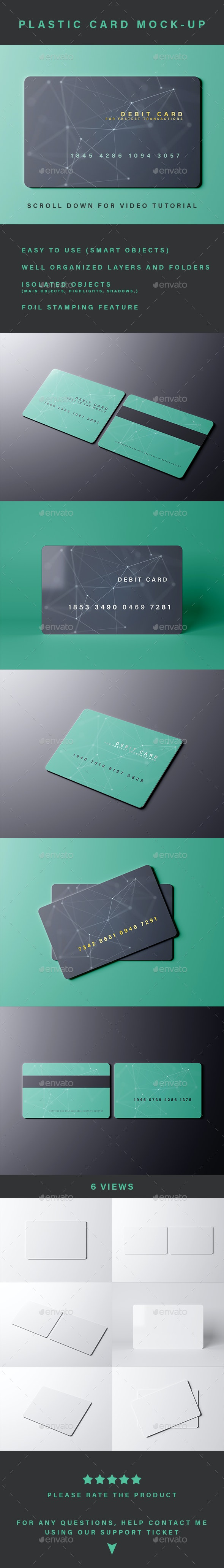 Plastic Card Mock-up - Miscellaneous Print