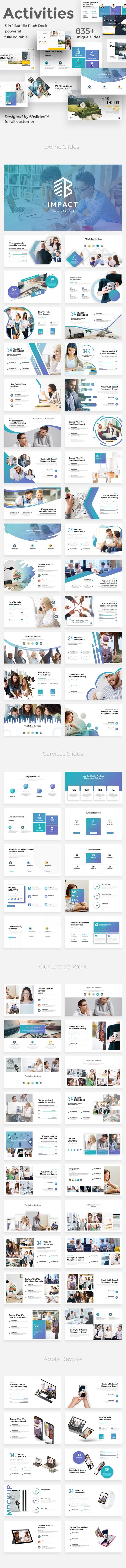 Key Activities 3 in 1 Pitch Deck Bundle Google Slide Template - Google Slides Presentation Templates
