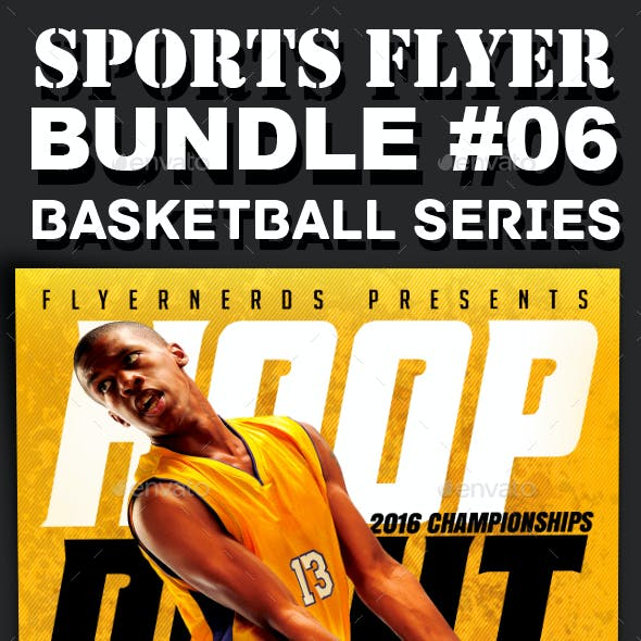 Sports Flyer Bundle 06 Basketball Series