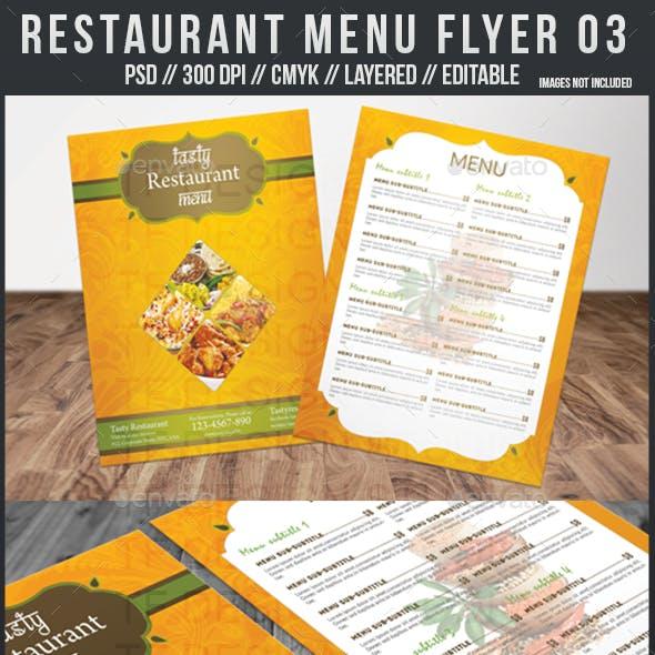 Restaurant Menu Flyer 03