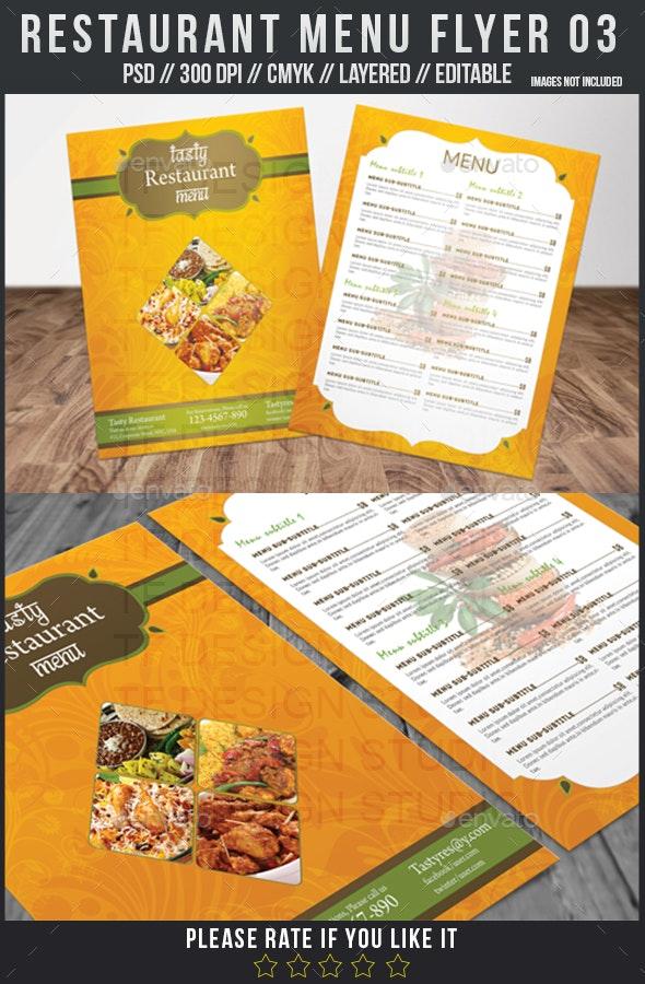 Restaurant Menu Flyer 03 - Restaurant Flyers