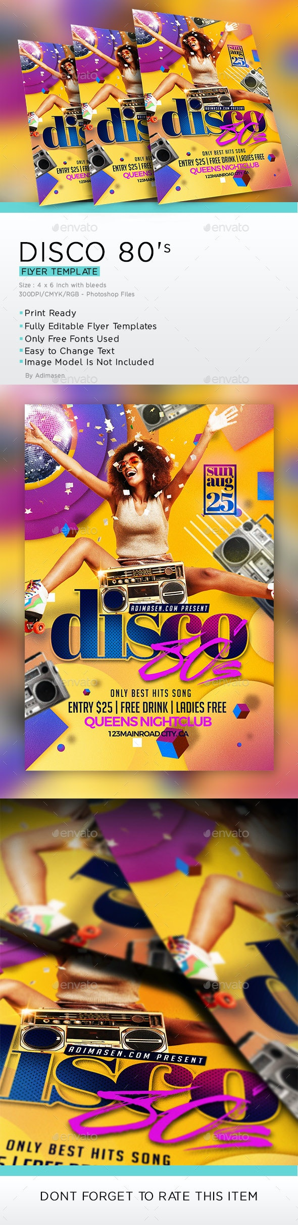 Disco 80'S Flyer - Events Flyers