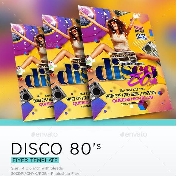 Disco 80'S Flyer