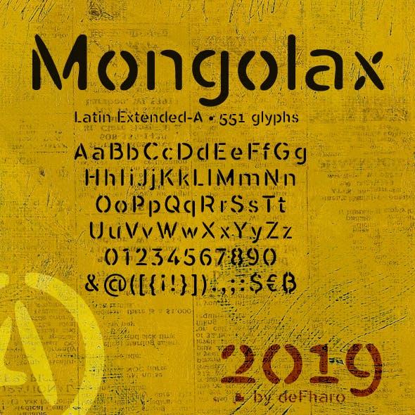 Mongolax typeface