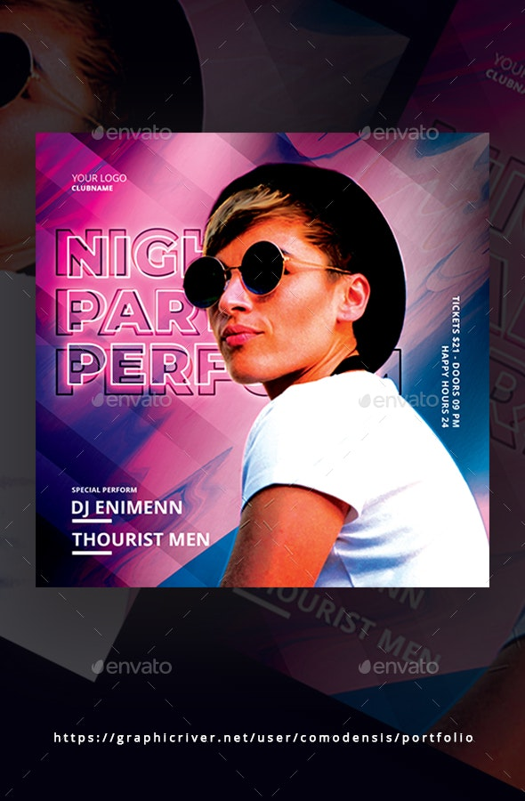 Night Party Club Flyer - Clubs & Parties Events