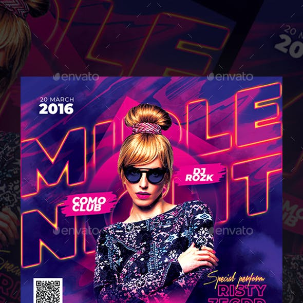 Middle Night Party Flyer