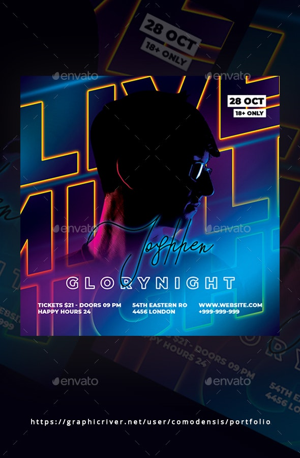 Live Night Party Flyer - Clubs & Parties Events