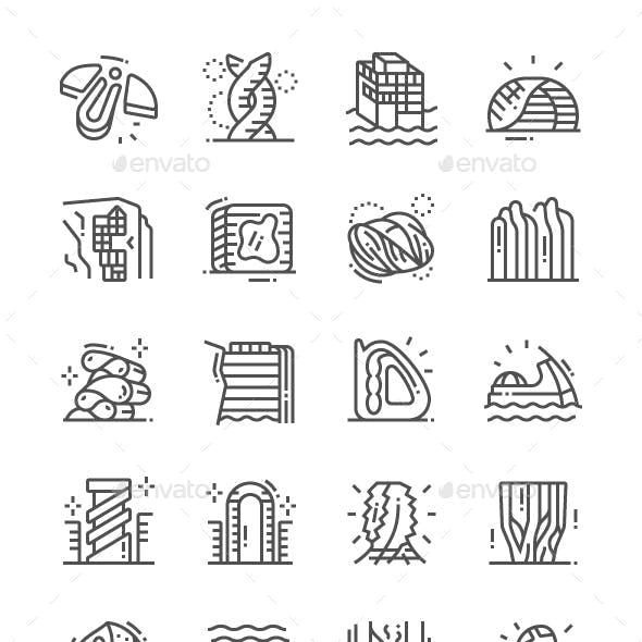 Future Architecture Line Icons
