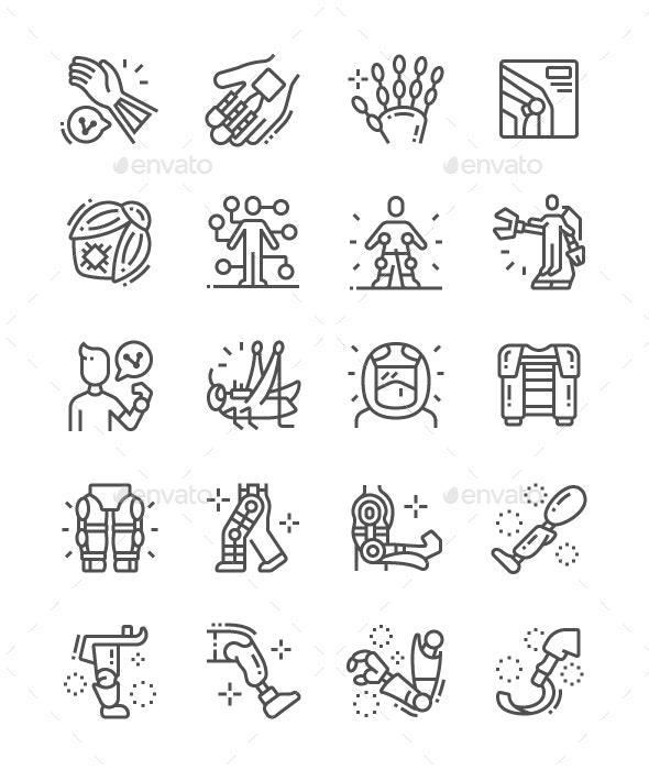 Bioengineering Line Icons - Technology Icons