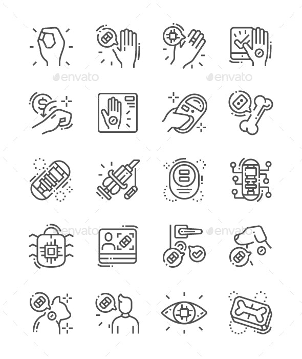 Chiping Line Icons - Miscellaneous Characters
