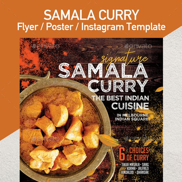 Indian Cuisine Restaurant flyer - Set of 3 Templates