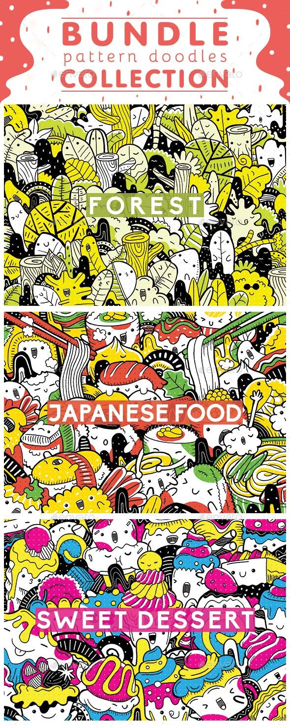 Bundle Pattern Doodles Collection - Patterns Backgrounds
