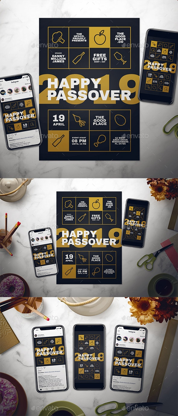 Happy Passover Flyer Set - Holidays Events
