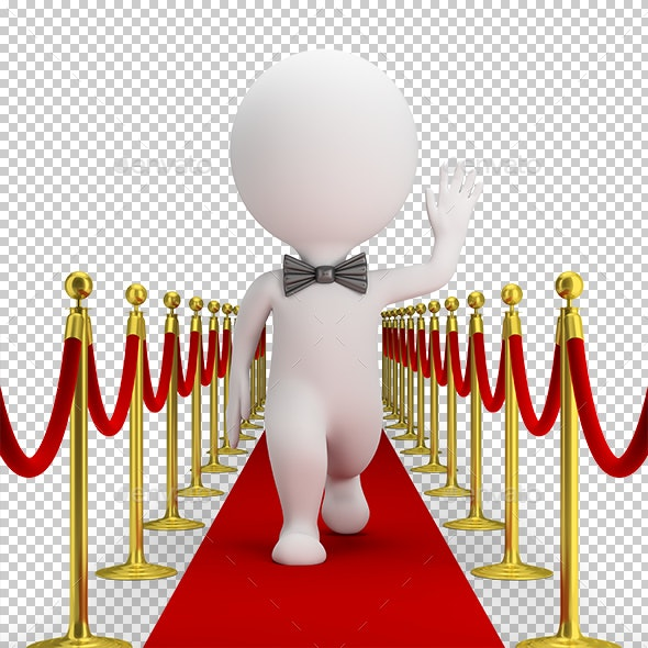 3D Small People - Red Carpet - Characters 3D Renders