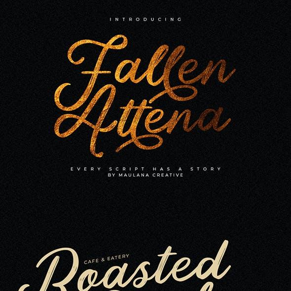 Fallen Attena - Brush Font